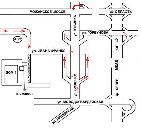 ООО Группа АИСТ - схема проезда